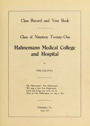 Page 7, 1921 Edition, Drexel University College of Medicine - Hahnemann Medic Yearbook (Philadelphia, PA) online yearbook collection