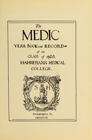 Page 17, 1928 Edition, Drexel University College of Medicine - Hahnemann Medic Yearbook (Philadelphia, PA) online yearbook collection