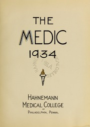 Page 7, 1934 Edition, Drexel University College of Medicine - Hahnemann Medic Yearbook (Philadelphia, PA) online yearbook collection