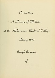 Page 5, 1949 Edition, Drexel University College of Medicine - Hahnemann Medic Yearbook (Philadelphia, PA) online yearbook collection