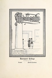 Page 7, 1921 Edition, Davenport College - Galax Yearbook (Lenoir, NC) online yearbook collection