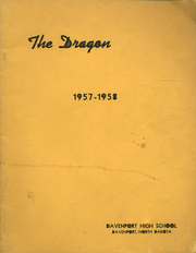 Page 1, 1958 Edition, Davenport High School - Dragon Yearbook (Davenport, ND) online yearbook collection