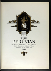 Page 7, 1933 Edition, Peru State College - Peruvian Yearbook (Peru, NE) online yearbook collection