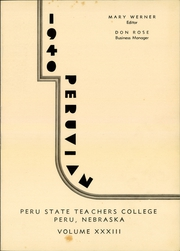 Page 3, 1940 Edition, Peru State College - Peruvian Yearbook (Peru, NE) online yearbook collection