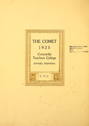 Page 6, 1925 Edition, Concordia University Nebraska - Comet Yearbook (Seward, NE) online yearbook collection