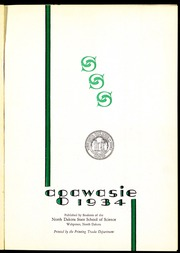 Page 5, 1934 Edition, North Dakota State College of Science - Agawasie Yearbook (Wahpeton, ND) online yearbook collection