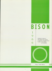 Page 5, 1966 Edition, North Dakota State University - Bison Yearbook (Fargo, ND) online yearbook collection