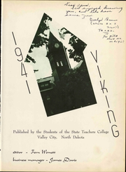 Page 9, 1941 Edition, Valley City State University - Viking Yearbook (Valley City, ND) online yearbook collection