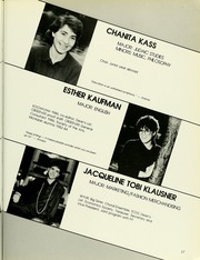 Page 61, 1986 Edition, Stern College for Women - Kochaviah Yearbook (New York, NY) online yearbook collection