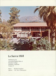 Page 7, 1968 Edition, Pasadena College - La Sierra Yearbook (Pasadena, CA) online yearbook collection