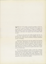 Page 11, 1938 Edition, Wichita State University - Parnassus Yearbook (Wichita, KS) online yearbook collection