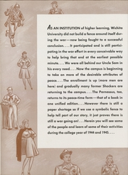 Page 8, 1945 Edition, Wichita State University - Parnassus Yearbook (Wichita, KS) online yearbook collection