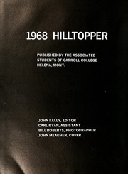 Page 8, 1968 Edition, Carroll College - Hilltopper Yearbook (Helena, MT) online yearbook collection