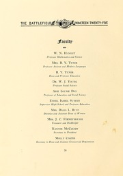Page 14, 1925 Edition, Mary Washington College - Battlefield Yearbook (Fredericksburg, VA) online yearbook collection