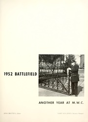 Page 7, 1952 Edition, Mary Washington College - Battlefield Yearbook (Fredericksburg, VA) online yearbook collection
