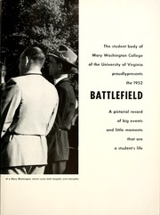 Page 9, 1952 Edition, Mary Washington College - Battlefield Yearbook (Fredericksburg, VA) online yearbook collection