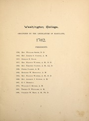 Page 11, 1895 Edition, Washington College - Pegasus Yearbook (Chestertown, MD) online yearbook collection