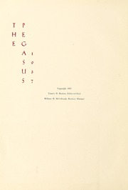 Page 6, 1937 Edition, Washington College - Pegasus Yearbook (Chestertown, MD) online yearbook collection