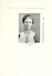 Page 11, 1935 Edition, Longwood College - Virginian Yearbook (Farmville, VA) online yearbook collection