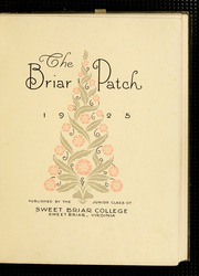 Page 7, 1925 Edition, Sweet Briar College - Briar Patch Yearbook (Sweet Briar, VA) online yearbook collection