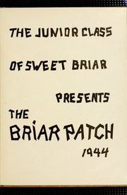 Page 5, 1944 Edition, Sweet Briar College - Briar Patch Yearbook (Sweet Briar, VA) online yearbook collection