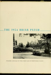 Page 7, 1954 Edition, Sweet Briar College - Briar Patch Yearbook (Sweet Briar, VA) online yearbook collection
