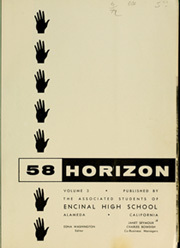 Page 5, 1958 Edition, Encinal High School - Horizon Yearbook (Alameda, CA) online yearbook collection