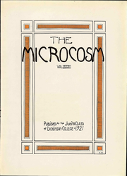 Page 9, 1922 Edition, Dickinson College - Microcosm Yearbook (Carlisle, PA) online yearbook collection