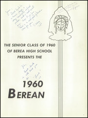 Page 5, 1960 Edition, Berea High School - Berean Yearbook (Berea, OH) online yearbook collection