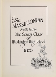 Page 7, 1926 Edition, Massillon Washington High School - Massillonian Yearbook (Massillon, OH) online yearbook collection