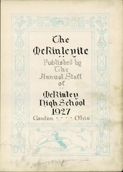 Page 5, 1927 Edition, McKinley High School - McKinleyite Yearbook (Canton, OH) online yearbook collection