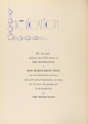 Page 8, 1938 Edition, McKinley High School - McKinleyite Yearbook (Canton, OH) online yearbook collection