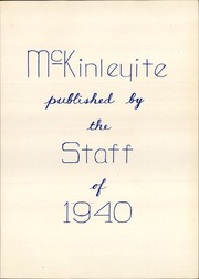 Page 7, 1940 Edition, McKinley High School - McKinleyite Yearbook (Canton, OH) online yearbook collection