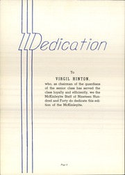Page 8, 1940 Edition, McKinley High School - McKinleyite Yearbook (Canton, OH) online yearbook collection