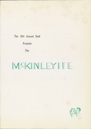 Page 5, 1941 Edition, McKinley High School - McKinleyite Yearbook (Canton, OH) online yearbook collection