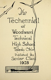 Page 9, 1925 Edition, Woodward High School - Saga Yearbook (Toledo, OH) online yearbook collection