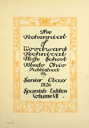Page 5, 1926 Edition, Woodward High School - Saga Yearbook (Toledo, OH) online yearbook collection