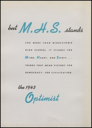 Page 8, 1943 Edition, Middletown High School - Optimist Yearbook (Middletown, OH) online yearbook collection