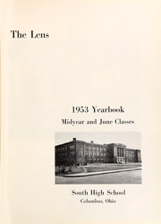 Page 5, 1953 Edition, South High School - Lens Yearbook (Columbus, OH) online yearbook collection