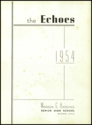 Page 5, 1954 Edition, Warren G Harding High School - Echoes Yearbook (Warren, OH) online yearbook collection