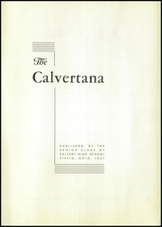Page 7, 1941 Edition, Calvert High School - Calvertana Yearbook (Tiffin, OH) online yearbook collection