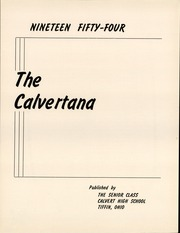 Page 3, 1954 Edition, Calvert High School - Calvertana Yearbook (Tiffin, OH) online yearbook collection