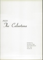 Page 5, 1959 Edition, Calvert High School - Calvertana Yearbook (Tiffin, OH) online yearbook collection
