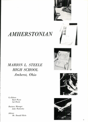 Page 5, 1965 Edition, Amherst Steele High School - Amherstonian Yearbook (Amherst, OH) online yearbook collection