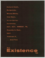 1966 Edition, Cardinal Stritch High School - Existence Yearbook (Oregon, OH)