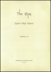 Page 5, 1923 Edition, Galion High School - Spy Yearbook (Galion, OH) online yearbook collection