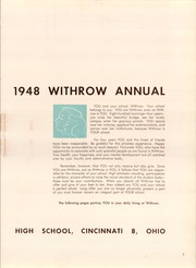 Page 11, 1948 Edition, Withrow High School - Withrow Annual Yearbook (Cincinnati, OH) online yearbook collection