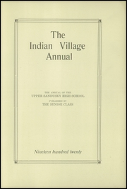 Page 5, 1920 Edition, Upper Sandusky High School - Indian Village Yearbook (Upper Sandusky, OH) online yearbook collection