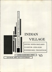 Page 5, 1965 Edition, Upper Sandusky High School - Indian Village Yearbook (Upper Sandusky, OH) online yearbook collection