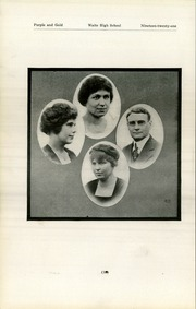 Page 20, 1921 Edition, Waite High School - Warrior Yearbook (Toledo, OH) online yearbook collection